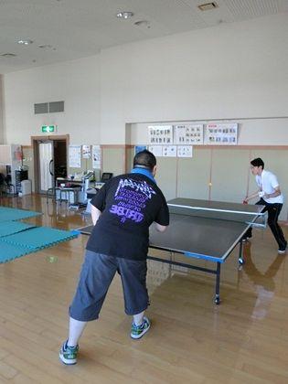 卓球でトレーニング