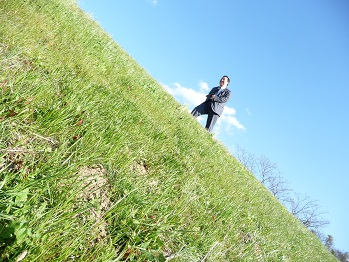 緑の大地と青い空