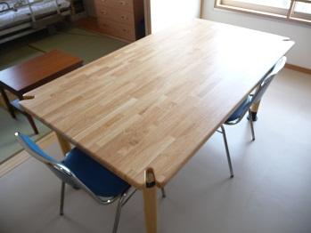 テーブルのくぼみ