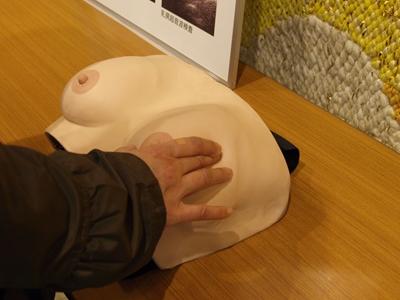 乳がん触診コーナー