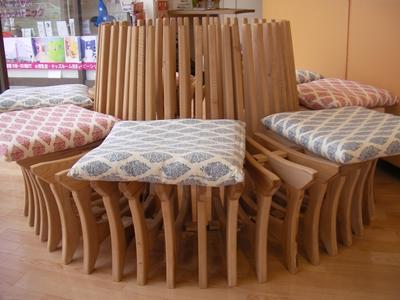 丸い椅子の完成です!