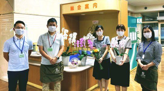 くまもと成仁病院様ありがとう【お花プロジェクト】